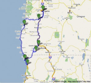 The route we took